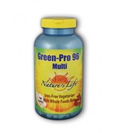Nature's Life Green Pro 96 Multivitamin maximizes your health with 34 vitamins, minerals, and bioflavonoids in one easy tablet per day..