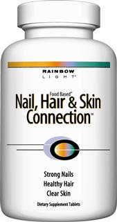 Nail, Hair & Skin Connection  Targeted 3-way support for strong nails, healthy hair & clear skin - for men and women.