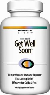 Get Well Soon  Nutritionally promotes the body's natural immune response processes..
