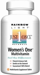 Womens One Multivitamin/Mineral for energizing daily nutrition. The #1 selling natural multivitamin customized for women and featuring probiotics, 800 mcg folic acid & 800 IU vitamin D. Whole Food based formula..
