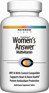 Women's Answer Multi+ Daily Program  Comprehensive multivitamin protection for demanding lives –  safe with birth control pills or HRT.