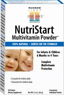 NutriStart Multivitamin Powder - Comprehensive supplemental nutrition for supporting optimal growth & development in children age 6 months - 4 years.