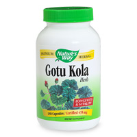 Gotu Kola has been traditionally used in India to promote longevity and enhance vitality. Gotu Kola is thought to boost intelligence and memory. This versatile herb is found growing naturally in the tropical boggy areas of India, and has many uses. Naturally caffeine free..