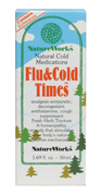 Flu and Cold Times is a homeopathic tincture containing Echinacea, Belladona, Eupalorium and other herbs for temporary relief of fever chills, post-nasal drip, head and chest congestion, minor sore throat pain, cough, body aches, pains and soreness assoicated with cold and flu.