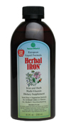 Herbal Iron is a liquid iron and multi-vitamin supplement that is formulated using iron-II-lactate, rather than the commonly used gluconate. The difference is that iron-II-lactate is a highly absorbable and easily tolerable form of iron.  Vitamin C, natural fruit and vegetable concentrates, such as currant, spinach and red beet - some of the most abundant iron sources known - fortify the formula and create its pleasant taste. This is an especially important feature for children with fussy taste buds..