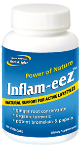 Ideal addition to healthy diet and exercise regimen. Inflam-eeZ is an excellent combination of herbs and spice oils to reduce pain and inflammation in the joints, tendons and muscles..