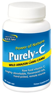 100% raw food vitamin C from camu camu, acerola cherry, Rhuscoriaria and rose hip.