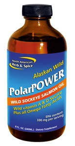 Unrefined wild sockeye salmon oil, a significant source of vitamins A & D and the ideal ratio of omega fatty acids.