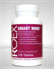 Roex Smart Mind is a unique blend of nutrients that promote and enhance healthy brain function. Stay focused with botanicals that support memory, mood and concentration..