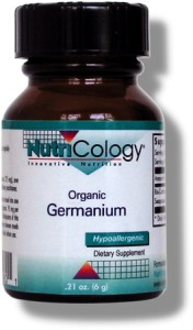 NutriCology introduced pure organic germanium into the United States in 1986. Pure Ge-132 Organic Germanium is a unique organogermanium compound, bis-carboxyethyl germanium sesquioxide, sometimes called just germanium sesquioxide..