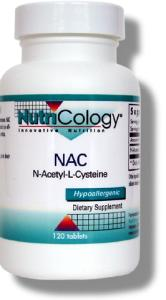 NAC (N-acetyl-L-cysteine) is an antioxidant that helps increase glutathione synthesis, and potentially has benefit during oxidative stress..
