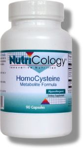 Homocysteine Metabolite Formula supports healthy homocysteine levels by providing the necessary nutrients to facilitate the breakdown of homocysteine into methionine and other metabolites. Cardiovascular Support..