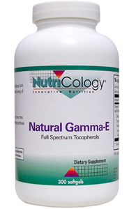 Natural Gamma-E contains alpha-tocopherol balanced with gamma-tocopherol, providing a natural synergy of vitamin E antioxidant support..
