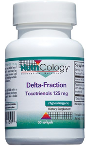 Delta-Fraction Tocotrienols contains tocotrienols from annatto beans and is free of tocopherols. Among tocotrienols, the delta-fraction has shown superb potential for maintaining healthy levels of cholesterol and triglycerides, increasing blood level of coenzyme Q10, regulating metabolic functions, and supporting endothelial functions..