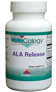A sustained-release alpha-lipoic acid complex, containing alpha-lipoic acid, R-alpha-lipoic acid, and biotin..