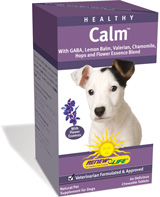 GABA, lemon balm and chamomile help to relieve your dog's anxiety and promote calmness.