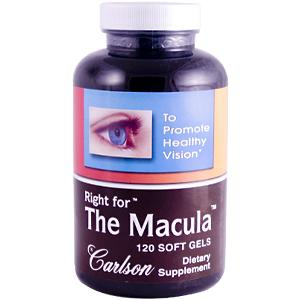 Carlson Right for the Macula is a combination of Lutein with DHA to promote greater pigment density in and around the macula..
