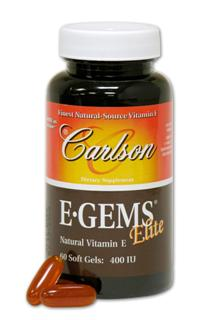 E-Gems Elite provides 400 IU of Vitamin Eas d-alpha tocopherol, plus the benefits ofbeta, delta and gamma tocopherols and their4 corresponding tocotrienols..