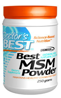 MSM supports organ and joint function by donating sulfur for maintenance of healthy connective tissue. MSM helps keep skin, hair and nails healthy by donating sulfur for production of keratin, a fibrous protein. Supports joint function..