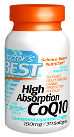 High Absorption CoQ10 contains pure, vegetarian source Coenzyme Q10 in a base of rice powder. In addition, High Absorption CoQ10 contains BioPerine®, an herbal extract that enhances CoQ10 absorption..