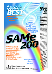 Doctors Best SAM-e 200 contains only the highest quality Italian SAM-e available on the market.  This ensures the most potent SAM-e product with the highest percentage of the active S,S form per serving..