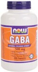 """Natural Calming Effect  With Vitamin B-6  Promotes Relaxation  Eases Nervous Tension* GABA (gamma aminobutyric acid) is a non-essential amino acid found mainly in the human brain and eyes. ; It is considered an inhibitory neurotransmitter, which means it regulates brain and nerve cell activity by inhibiting the number of neurons firing in the brain. ; GABA is referred to as the """"brain's natural calming agent"""". ; By inhibiting over-stimulation of the brain, GABA may help promote relaxation and ease nervous tension.* ; NOW provides only the naturally occurring form as found in food and in the body. ."""