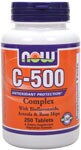 C-500 provides a potent dosage of this key vitamin and is blended with Bioflavonoids, Acerola, Rose Hips and Rutin, which are natural synergists to Vitamin C. Vegetarian and Vegan Formula..
