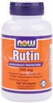 Rutin is a flavonoid glycoside also called rutoside, quercetin-3-rutinoside and sophorin. NOW provides Rutin derived from a non-citrus source. Rutin, like quercetin, supports blood vessel integrity, bowel health, and promotes a healthy inflammation response.* .