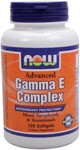 """NOW Advanced Gamma E Complex provides the necessary full range of antioxidant protection because it contains a more natural balance of Tocopherols plus a full complement of Tocotrienols. NOW®'s """"Advanced"""" formula thereby provides superior support for cardiovascular health, as well as protection for the health of the prostate and the colon.."""