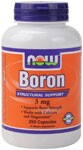 Boron is a biologically active trace mineral which affects calcium, magnesium, and phosphorus metabolism. Boron is known to support bone strength and structure..