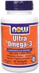 The Natural Fish Oil Concentrate used in Ultra Omega-3 by Now Foods is manufactured under strict quality control standards. Ultra Omega-3 is tested to be free of potentially harmful levels of contaminants (i.e. mercury, heavy metals, PCB's, dioxins, and other contaminants).  Consumption of Omega-3 fatty acids may reduce the risk of coronary heart disease..