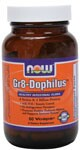 NOW Gr-8 Dophilus delivers its microflora directly to the intestine bypassing the harsh acidic conditions of the stomach..