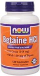 Combines Betaine Hydrochloride (naturally occurring in beets) with Pepsin to assist in proper digestion of food..