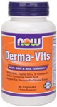 Derma-Vits includes optimum levels of MSM, Vitamin E and natural silica from Horsetail Extract. These nutrients provide the primary components for supporting lustrous hair, glowing skin and flawless nails*..