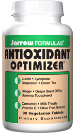 Antioxidant Optimizer is a potentent blend of synergistic and powerful antioxidants. Including:Lutein, Lycopene,Green Tea 5:1 extract, Milk Thistle, OleaSelect Olive Fruit Extract, LeucoSelect Grape Seed and Gamma Tocopherol..