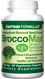 Each capsule of BroccoMax contains 30 mg of sulforaphane glucosinolate, a concentration at least 20 times greater than that found in the full-grown broccoli plant..