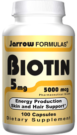 Biotin is essential for normal skin and hair growth, lipid metabolism and energy production (ATP)..