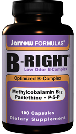 Methylcobalamin B12, Pantethine, P-5-P are thoughtfully blended in Jarrow Formulas B-Right Complex, a carefully balanced B complex formula..