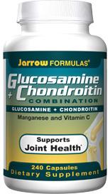 Jarrow Formulas Glucosamine plus Chondroitin Combination is Joint Sustain.