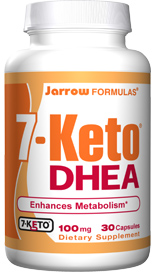 The bodys production of 7-Keto DHEA declines with age, which is directly correlated with a decline in metabolic rate. Clinical studies of 7-Keto DHEA demonstrated increases in metabolic rate and improvement in body mass index..