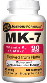 MK-7 from Natto is ten times better absorbed than K1 from spinach. MK-7 is responsible for the carboxylation of specific bone proteins needed for building bone..