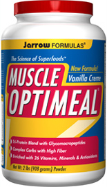 Each serving of Muscle Optimeal® contains 22 grams of high biological value protein from whey, milk and rice, providing about 5 grams of Branched Chain Amino Acids (Leucine, Isoleucine and Valine)..