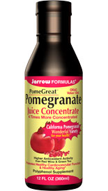 The pomegranate (Punica granatum) has long been recognized as a fruit with many health benefits. Pomegranate tops all other conventional fruits, including blueberry and strawberry, in its ORAC (Oxygen Radical Absorbance Capacity) value, ranking pomegranate as one of the most powerful antioxidant fruits..