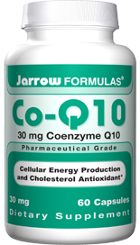 Co-Q10, an important antioxidant found in high concentration in human heart and liver, is part of the cells electron transport system, needed for ATP (i.e energy) production within the cells. Jarrow FORMULAS Co-Q10 restores Co-Q10 levels reduced or depleted by use of statins..