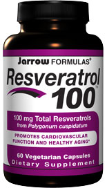 Jarrow FORMULAS Resveratrol 100 provides approximately 90% resveratrol in the active trans configuration. As an antioxidant, resveratrol protects cardiovascular function by inhibiting LDL oxidation, upregulating nitric oxide synthesis, and the integrity of capillaries..