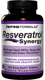 Jarrow FORMULAS Resveratrol Synergy™ brings together resveratrol and powerful antioxidants resulting in a potent synergistic formula. An excellent antioxidant for healthy aging..
