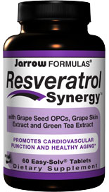 Resveratrol Synergy brings together resveratrol (3,4,5-trihydroxystilbene) and powerful antioxidants resulting in a potent synergistic formula..