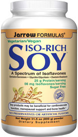 Yaeyama Chlorella and Spirulina with Digestive Enzymes Bromelain and Papain.  Iso-Rich Soy Greens combines soy protein isolate, super green foods, and digestive enzymes to create a nutritious and easily digested drink..
