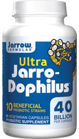 Each capsule of Ultra Jarro-Dophilus contains 40 billion total probiotic bacteria..