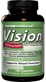 Vision Optimizer is formulated to protect and support healthy visual function. Contains: Lutein,  Zeaxanthin, New Zealand Blackcurrant Extract, Grape Seed Extract , Alpha Lipoic Acid, Selenium, Vitamin B2, Ginkgo Biloba Extract andQuercetin..